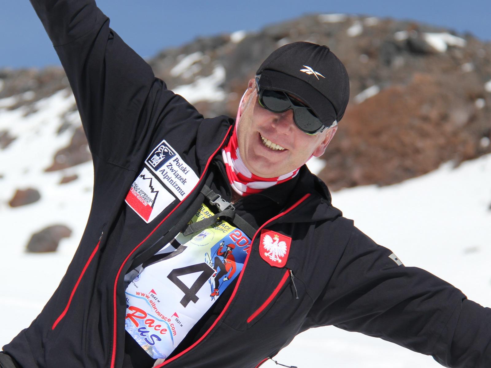 Артур Найзер во время Elbrus Race 2010