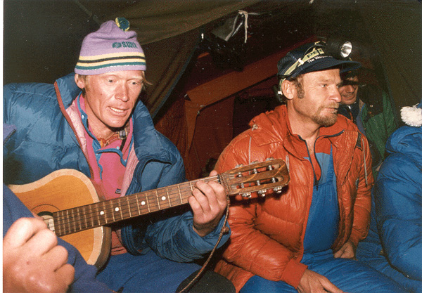 anatoly bukreev and vladimir balyberdin at basecamp. by dan 2